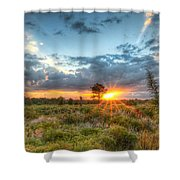 Sunset At The Field Of Dreams Shower Curtain