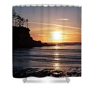 Sunset Bay Moments Shower Curtain