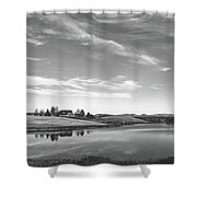 Sunset Clouds Over Wyoming Shower Curtain