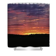 Sunset Colors Shower Curtain