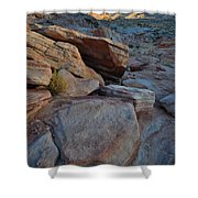 Sunset Comes To Valley Of Fire Shower Curtain