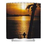 Sunset Cross Shower Curtain