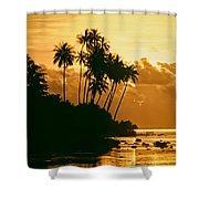 Sunset In Atiha, Moorea, French Polynesia Shower Curtain