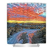 Sunset In El Prado Shower Curtain
