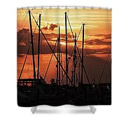Sunset In Masts, South Fl. Shower Curtain