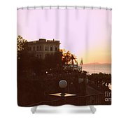 Sunset In Sorrento Shower Curtain