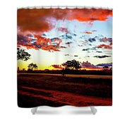 Sunset Landscape In Zambia Shower Curtain