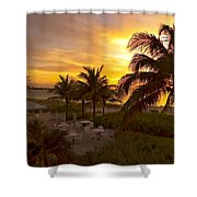 Sunset On Grace Bay Shower Curtain
