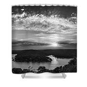 Sunset On The Niangua Shower Curtain