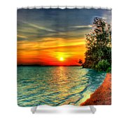 Sunset On The Shore Shower Curtain