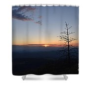 Sunset Over Kings Canyon In The Southwest Sierra Nevadas Shower Curtain