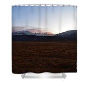 Sunset Over The Eastern Sierra Nevadas Shower Curtain