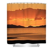 Sunset Over The Great Salt Lake Shower Curtain