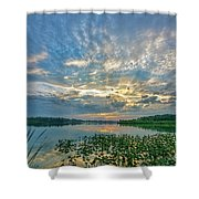 Sunset Over Water Shower Curtain