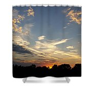 Sunset Sky Over Ohio Shower Curtain