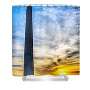 Sunset Washington Monument Shower Curtain