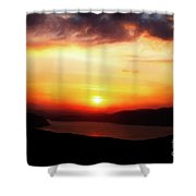 Sunsetting Over Portree, Isle Of Skye, Scotland No.2. Shower Curtain