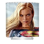 Supergirl Collection Shower Curtain