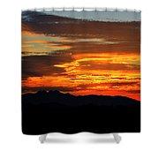 Superstition Sunrise  Shower Curtain