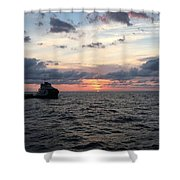 Supply Boat Shower Curtain