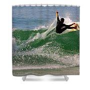 Surfer Shower Curtain by Carlos Caetano