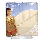 Surfer Girl Shower Curtain by Sri Maiava Rusden - Printscapes