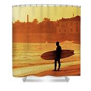 Surfer Silhouette Shower Curtain