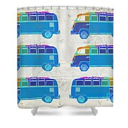 Surfer Vans  Shower Curtain