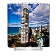 Surfers Paradise View Shower Curtain