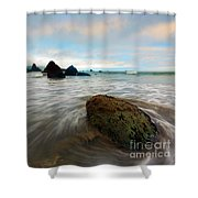 Surrounded By The Tides Shower Curtain
