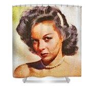 Susan Hayward, Vintage Hollywood Actress Shower Curtain