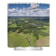 Suwalki Landscape Park, Poland. Summer Time. View From Above. Shower Curtain