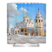 Suzdal. Pokrov Cathedral Shower Curtain