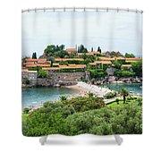 Sveti Stefan, Montenegro Shower Curtain