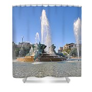 Swann Fountain - Center City Philadelphia Shower Curtain