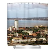 Swansea Bay South Wales Shower Curtain