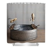 Swimming Pool Shower Curtain by Nailia Schwarz