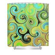 1# Swirls  Shower Curtain