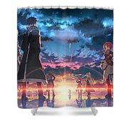 Sword Art Online Game Shower Curtain