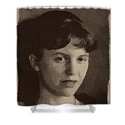 Sylvia Plath Shower Curtain