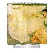 Symphony In White No 3 James Abbott Mcneill Whistler Shower Curtain