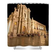 Syracuse, Sicily, Italy - Ortigia Downtown In Syracuse By Shower Curtain