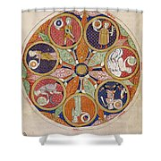 Table Of Planets Shower Curtain