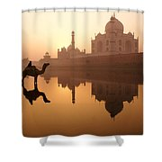 Taj Mahal At Sunrise Shower Curtain