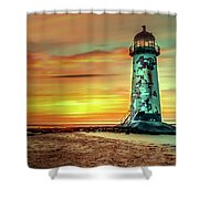 Talacre Lighthouse - Wales Shower Curtain