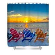 Tampa Bay Sunset Shower Curtain