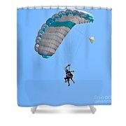 Tandem Paragliding Shower Curtain