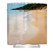 Tangalooma Island Beach In Moreton Bay.  Shower Curtain