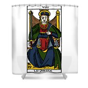 Tarot Card Justice Shower Curtain