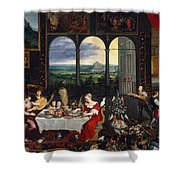 Taste, Hearing And Touch Shower Curtain